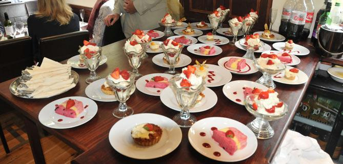 dessert buffet on John Rennie by Gourmet Delicious for Bath Narrowboats