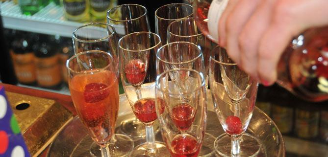 Champagne party on Bath Narrowboats John rennie Gourmet Delicious