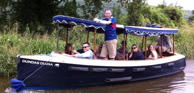 Bath & Dundas Bath Narrowboats Electric Dayboat Diana Stag Party