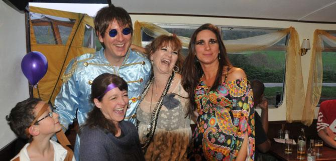 Disco party on John Rennie by Gourmet Delicious for Bath Narrowboats