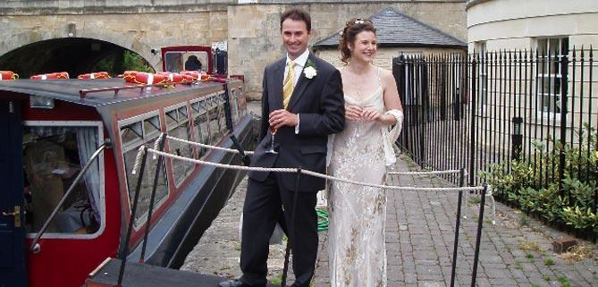 Wedding reception for Bath Narrowboats John Rennie restaurant boat