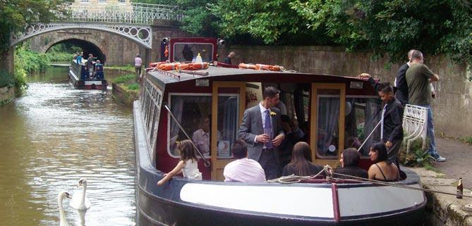 Bath Narrowboats John Rennie luxury restaurant boat wedding trip