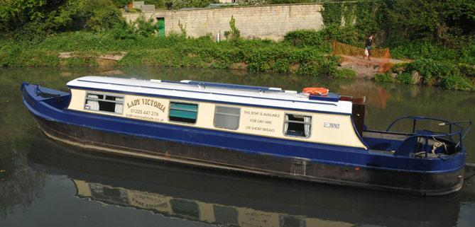 Lady Victoria Dayboat customers of Bath Narrowboats