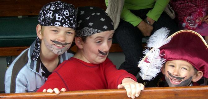Pirate party on Jubilee Kennet & Avon canal trust boat