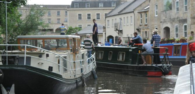 Bath Narrowboats Sydney wharf Bath