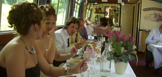 Wedding day on John Rennie by Gourmet Delicious for Bath Narrowboats