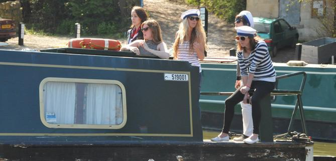 Pirate dayboat bath narrowboats hen parties