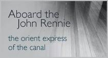 Aboard the John Rennie, the orient express of the canal