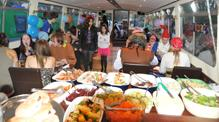 Barbecue Buffet on John Rennie by Gourmet Delicious for Bath Narrowboats