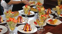 Buffet desserts on John Rennie by Gourmet Delicious for Bath Narrowboats
