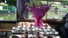 Buffet of desserts on John Rennie by Gourmet Delicious for Bath Narrowboats
