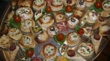 Canapes on John Rennie by Gourmet Delicious for Bath Narrowboats