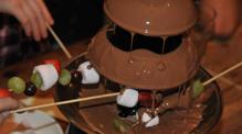 Chocolate fountain on John Rennie by Gourmet Delicious for Bath Narrowboa