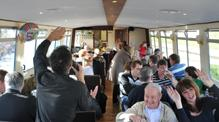 Dave dean  tribute singer John Rennie by Gourmet Delicious for Bath Narrowboats