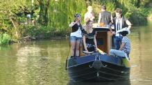 Dayboat customers of Bath Narrowboats pirate p