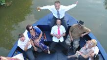 Disco party on John Rennie for Bath Narrowboats