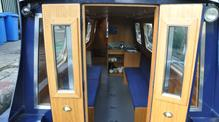 Dayboat interior for  customers of Bath Narrowboats pirate party