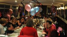 party on people sat on John Rennie by Gourmet Delicious for Bath Narrowboats