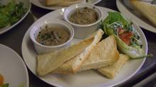 pate starter sat on John Rennie by Gourmet Delicious for Bath Narrowbo