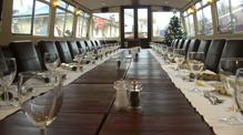 Boardroom table on John Rennie by Gourmet Delicious for Bath Narrowboats