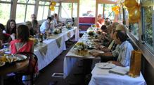 Wedding table plan on John Rennie by Gourmet Delicious for Bath Narrowboats