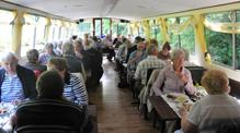 Restaurant table on John Rennie by Gourmet Delicious for Bath Narrowboats